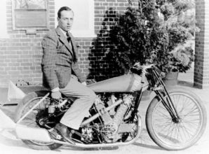 AJS V Twin 1000cc Supercharged Bike 1930s Charles Mortimer. Photo